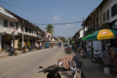 Glimpse of life in a street in Luang Prang, Laos