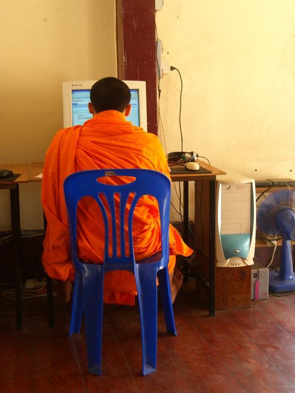 Monk on the Internet - Luang Prabang, Laos