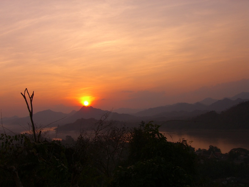 Sunset on the Mekong - Luang Prabang, Laos