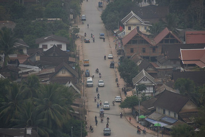 Overhead shot of a village in Luang Prabang, Laos