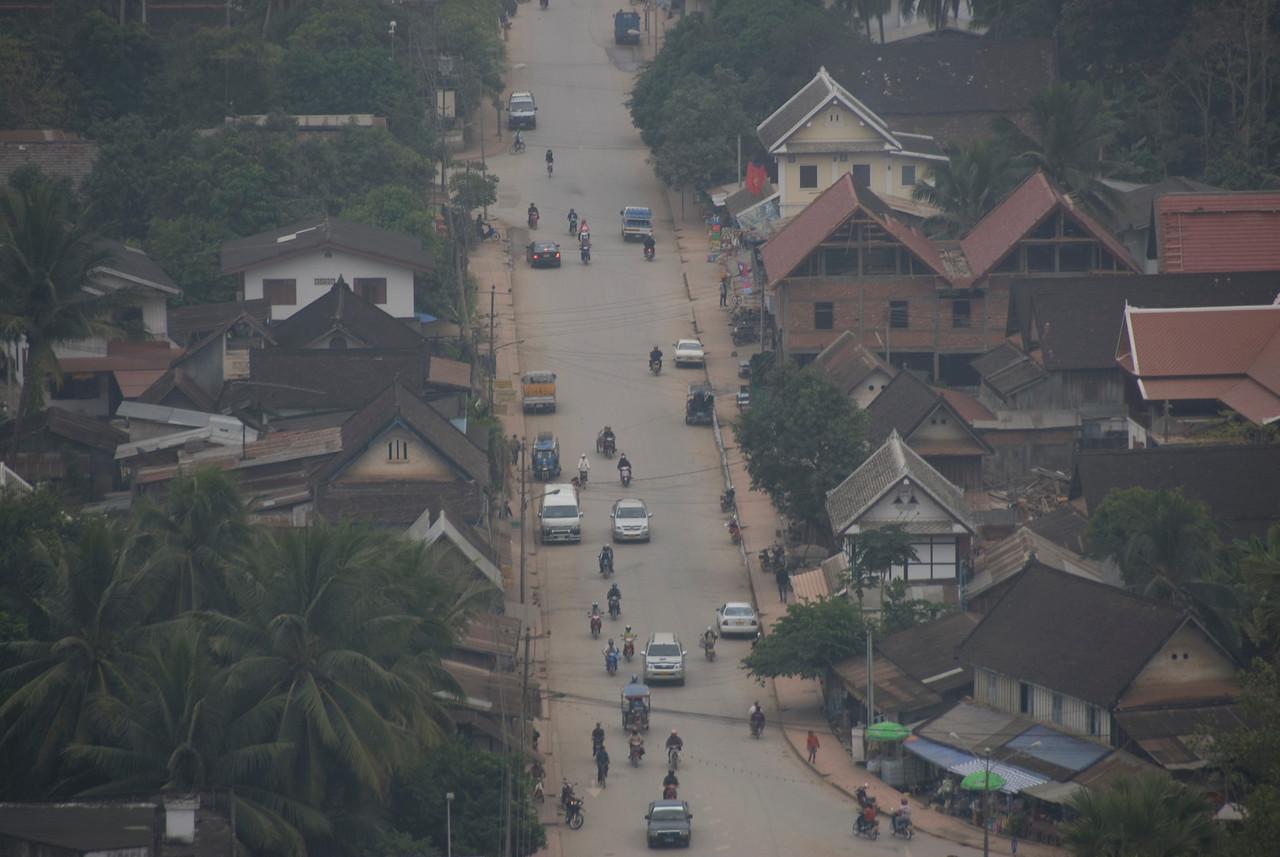 Overhead shot of a village in Luang Prabang, Laos