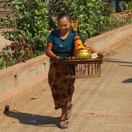 Woman Enjoying a Walking - Luang Prabang, Laos