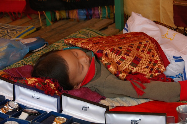 Sleeping boy - Luang Prabang, Laos
