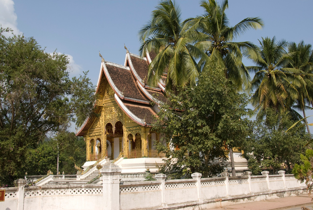 Beautiful architecture at National Museum in Luang Prang, Laos