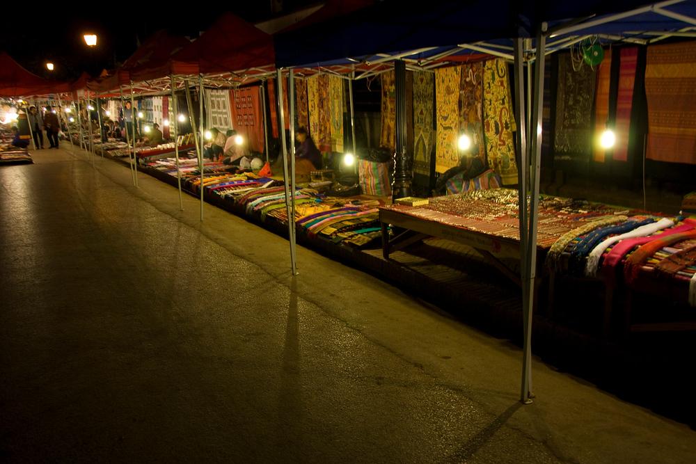 Night Market in Luang Prabang, Laos