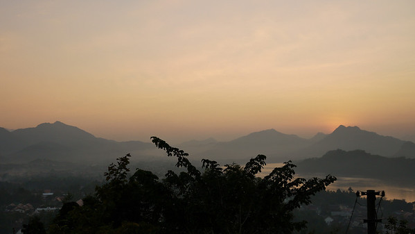 The last light of day in Luang Prabang, Laos