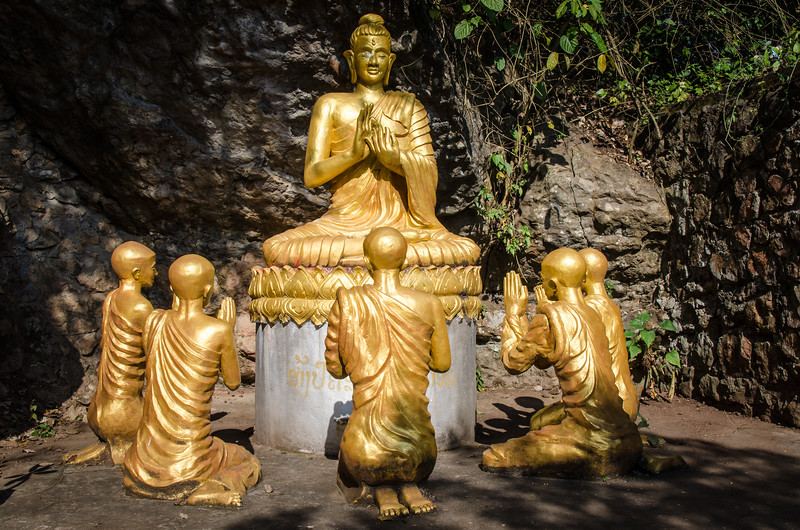 """Phou Si means """"sacred hill."""" It is right in the old part of Luang Prabang and has many buddhas and small temples."""