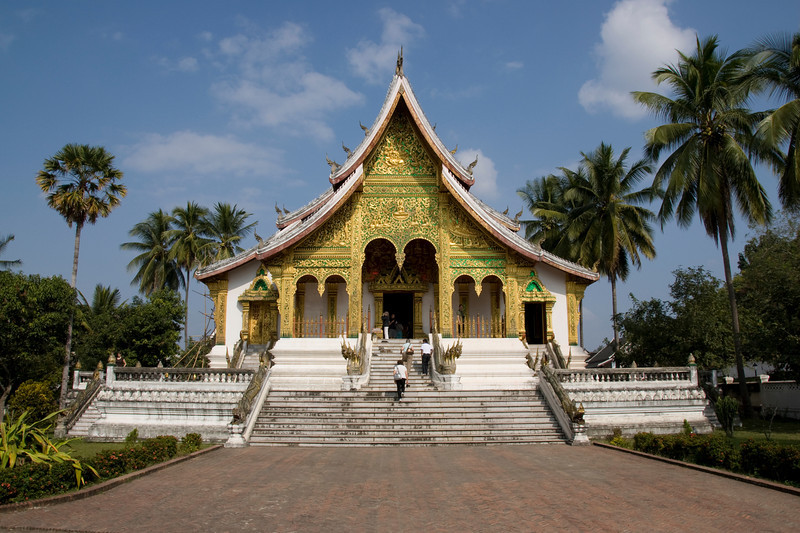 Front view of the National Museum in Luang Prang, Laos