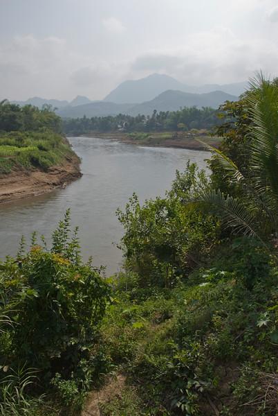 Shot of the bend at Mekong River in Luang Prang, Laos