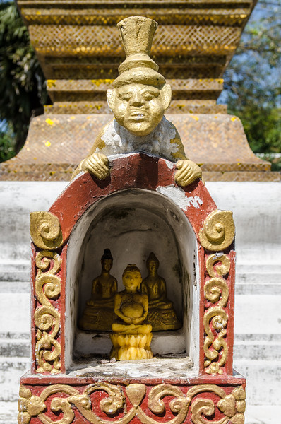 Interesting detail at Wat Xieng Thong.