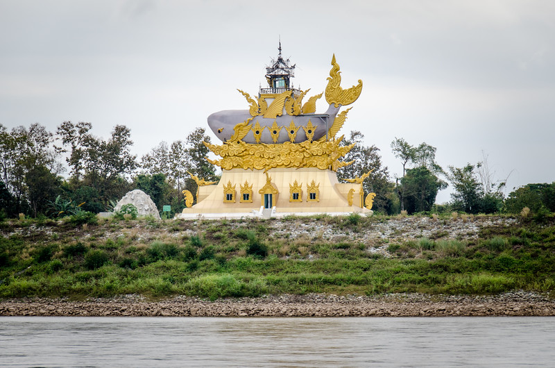 One of the guides said that this is a museum dedicated to the Mekong Catfish. It is still under contruction.