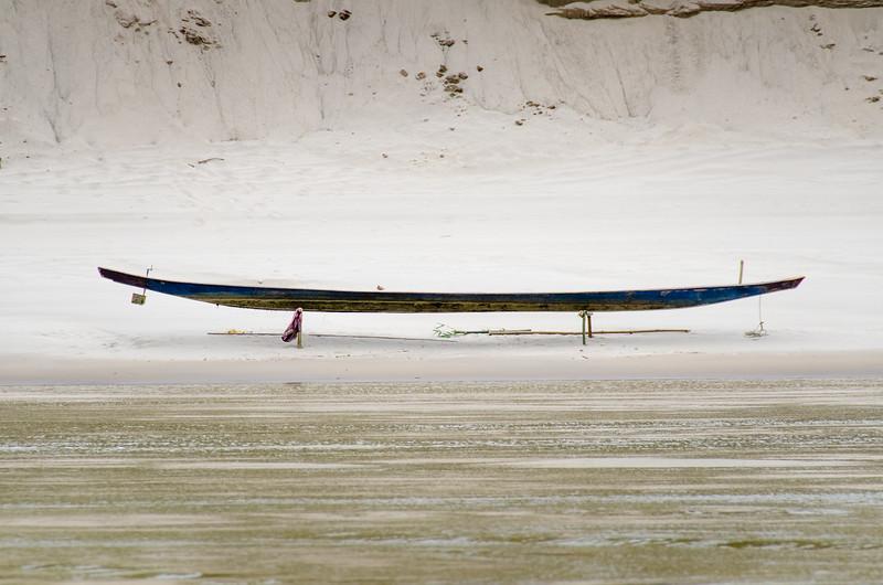 Lone canoe.