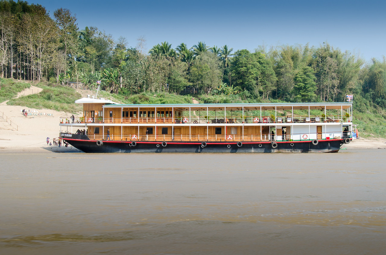 The Laos Pandow was launched in 2015. It has 10 staterooms and can carry 20 passengers in luxury.