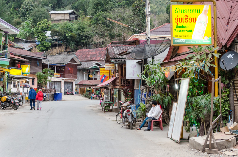 The village of Pakbeng caters to people on Mekong cruises.