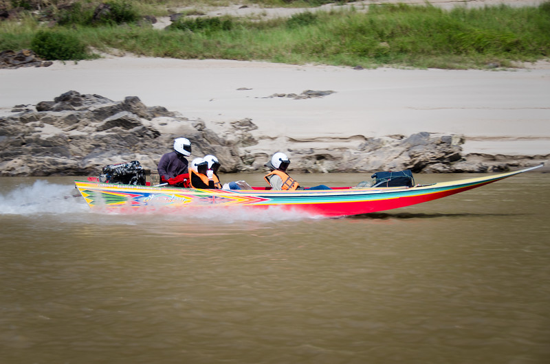 Another one of those crazy Mekong speedboats.