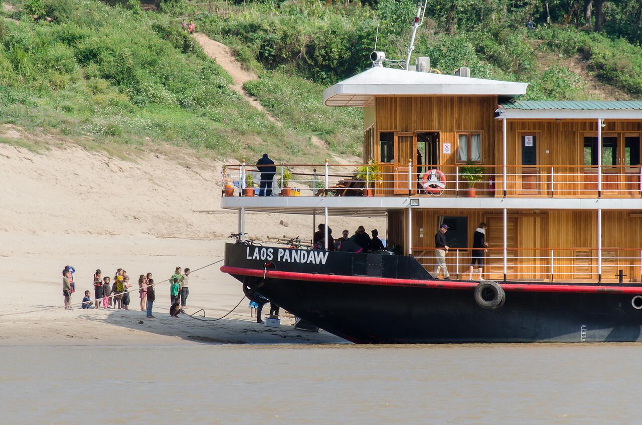 The luxury RV Laos Pandow of the Pandow Cruise Line.