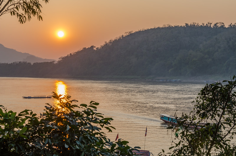 The end of a beautiful day in Luang Prabang.