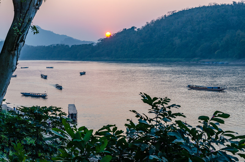 Sunset on the Mekong.