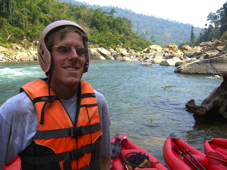 Kayaking on the Nam Lik - Vang Vieng, Laos