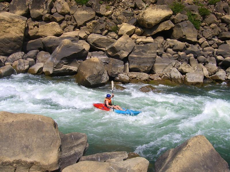 Kayaking on the Rapids - Vang Vieng, Laos