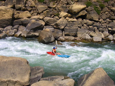 Kayaking on the Rapids - Vang Vieng, Laos