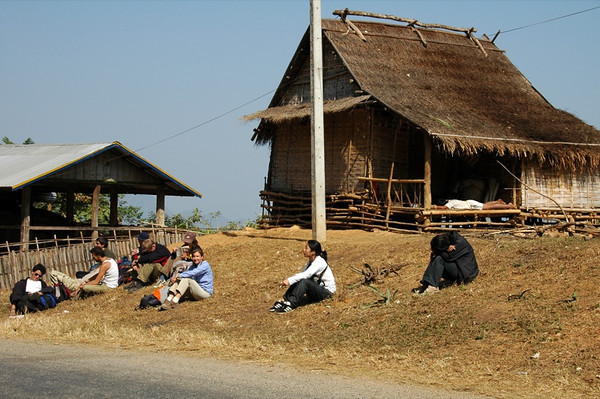 Sitting by the Road - Luang Prabang, Laos