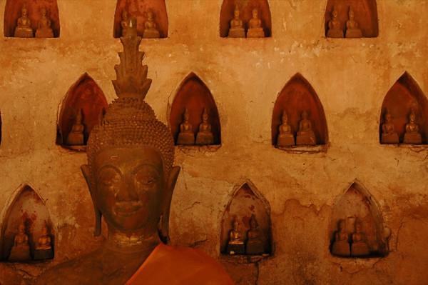 Big and Small Buddhas - Vientiane, Laos
