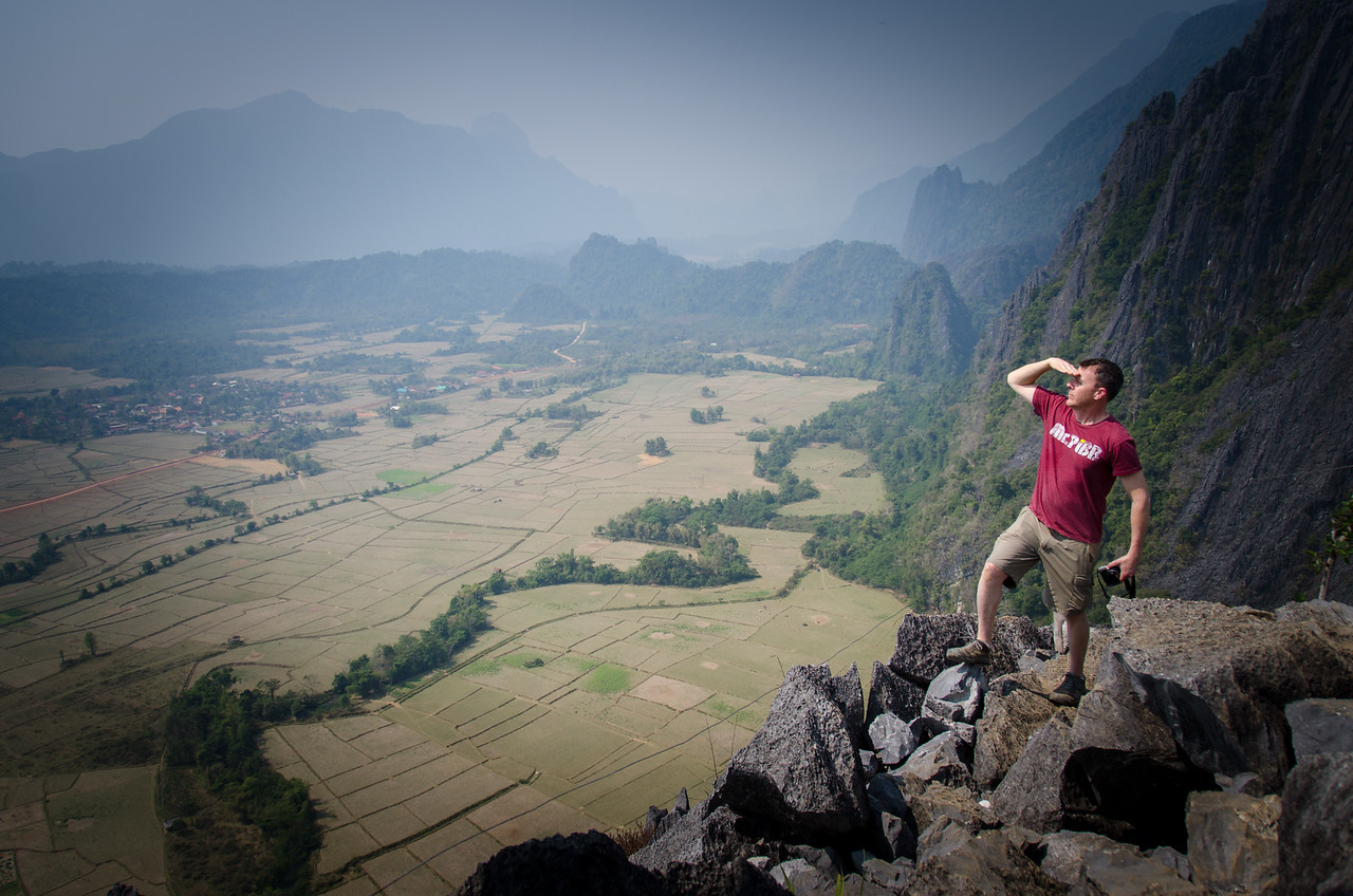 Me at the top of a karst.