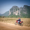 Heading out to explore the countryside near Vang Vieng.