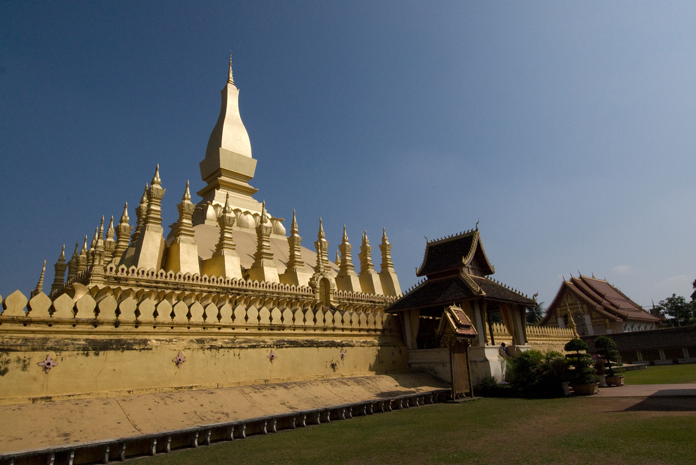 The Golden Stupa (Wat That Luang), Vientaine, Laos