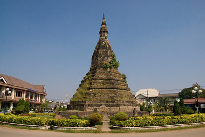 Roundabout Shrine in a street at Vientiane, Laos