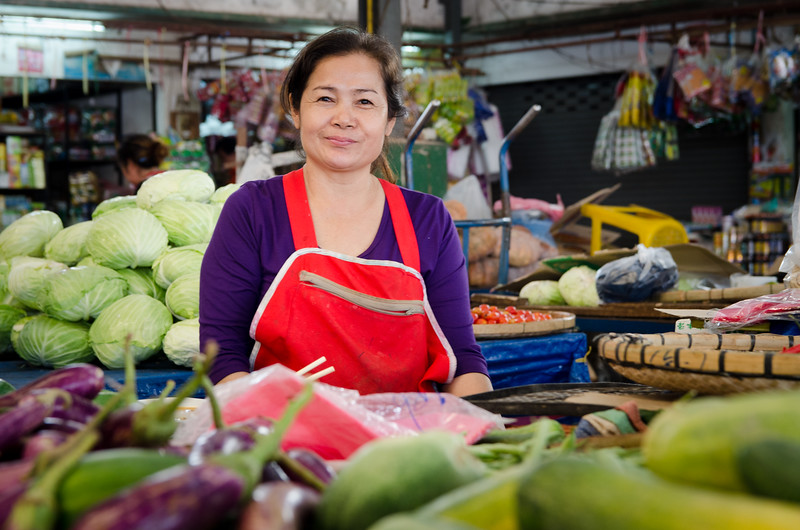 Woman in the market.