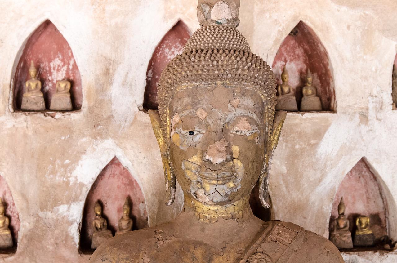 A buddha at Sisaket Temple.