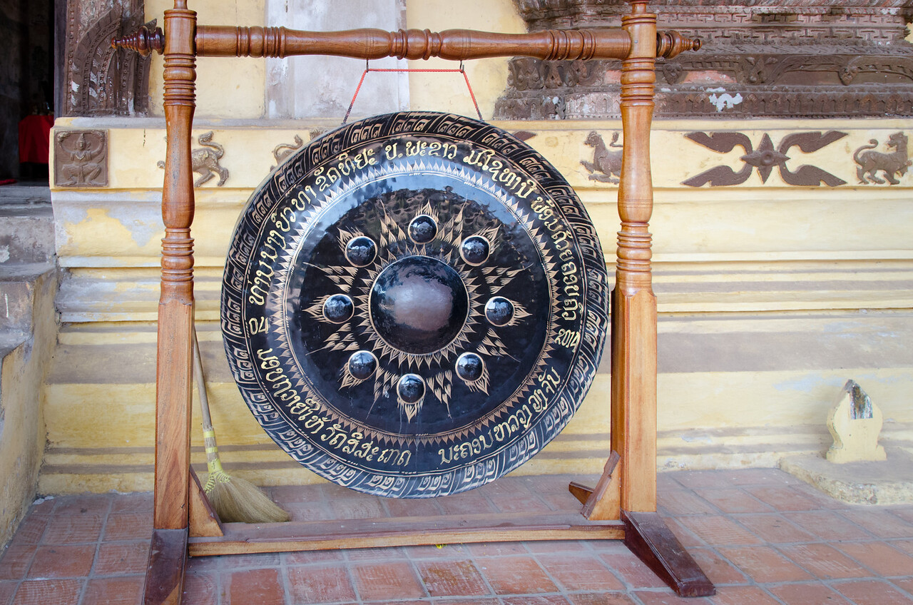 Gong at Sisaket Temple.