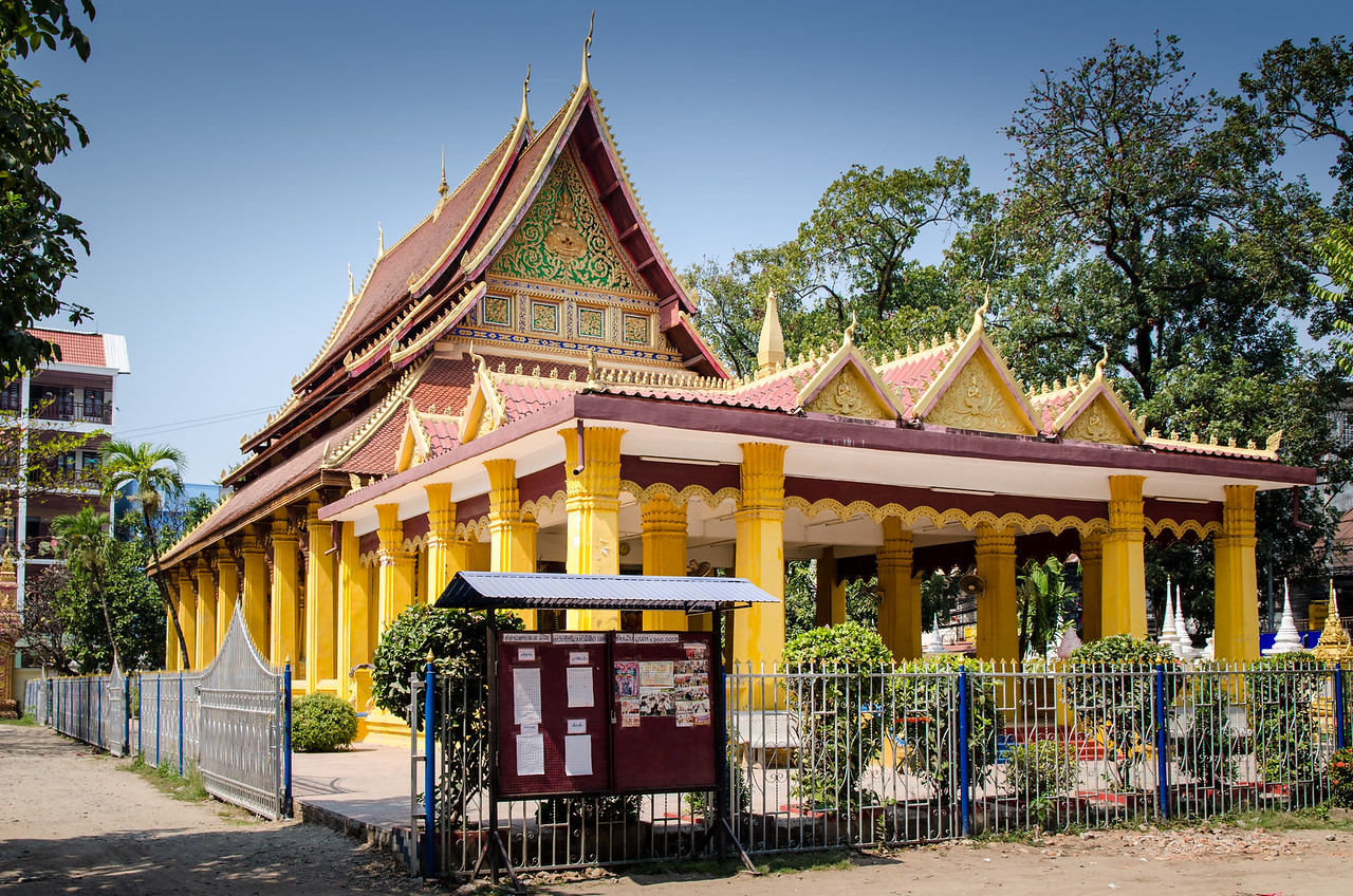 Wat Mixai, or the Temple of Victory, was built during the reign of King Sai Setthathirat (1550-1571) to celebrate the victory over the Burmese troops during the 16th century Lao-Burma war.