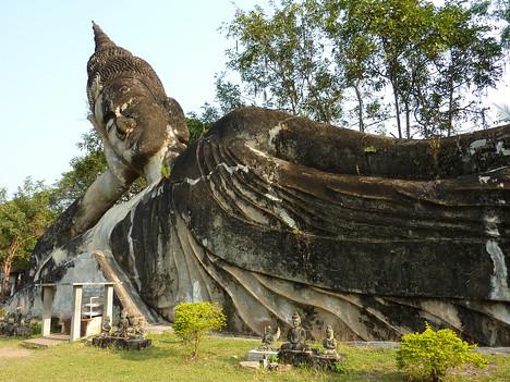 Reclining Buddha, Buddha Park - Laos