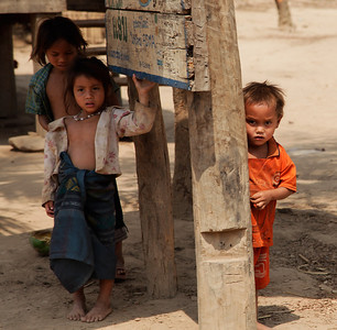northern Laos Children of the Khmu Tribe in northern Laos.
