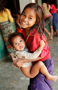 northern Laos Children of the Khmu Tribe in northern Laos