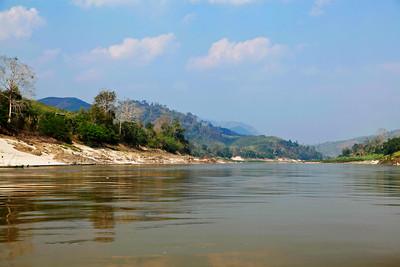 northern Laos View along the Mekong River between Huay Xai and Pak Beng in northern Laos