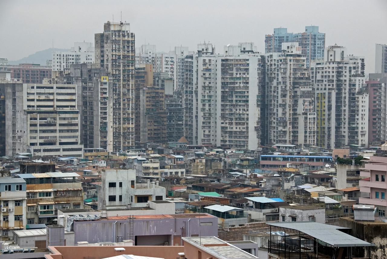 Overlooking view of the skyline in Macau