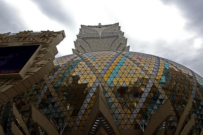 Modern architectural design at Hotel Lisboa in Macau