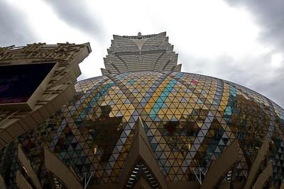 Modern architectural design at Hotel Lisboa in Macau