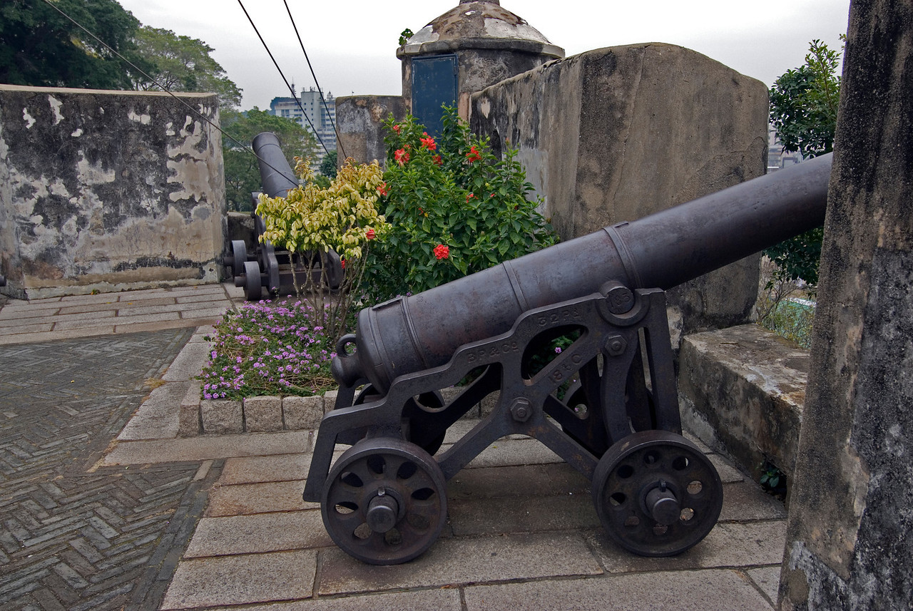 Shot of the cannon in Fortress - Macau