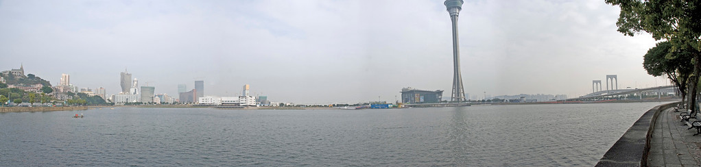 Panoramic view of the river in Macau