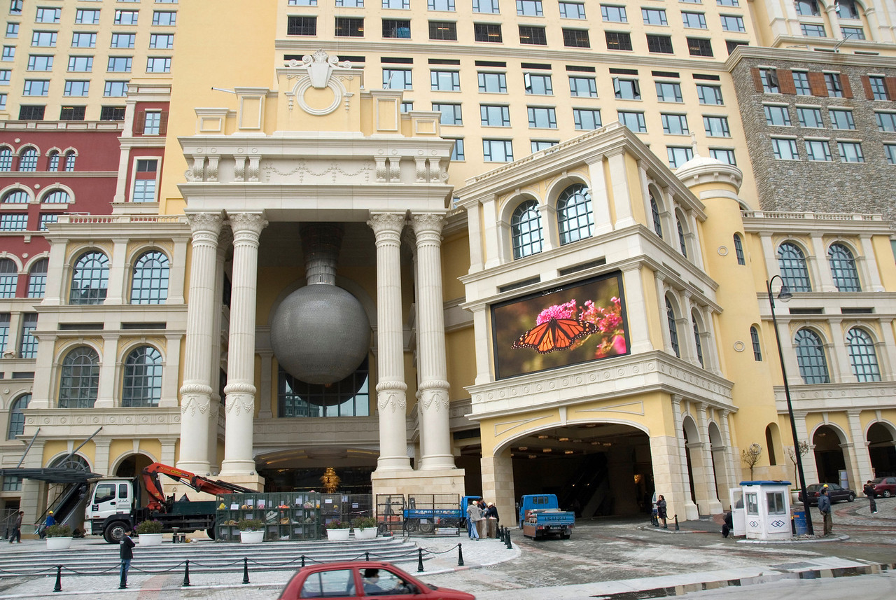Ongoing construction of the Venetian Hotel in Macau