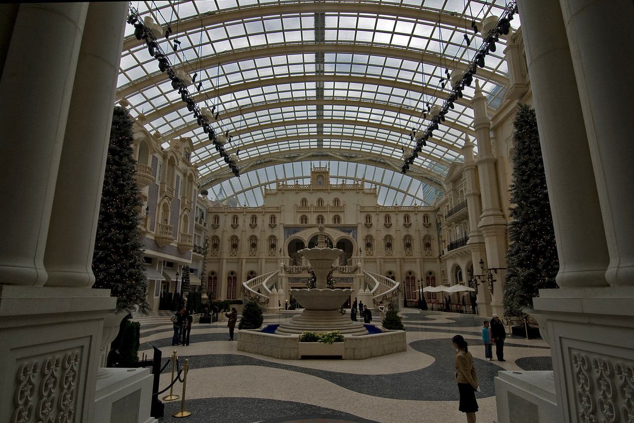 The main lobby inside MGM Grand in Macau