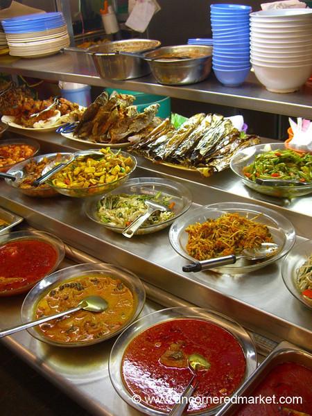 Malaysian Food, Curries, Salads and Dried Fish - Kuala Lumpur, Malaysia