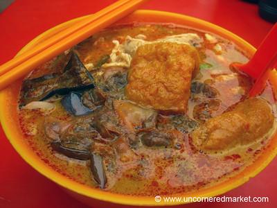 Malaysian Food, Streetside Laksa - Kuala Lumpur, Malaysia