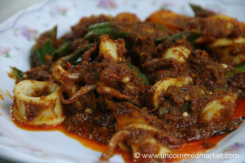 Malaysian Food, Sambal Sotong - Kuala Lumpur, Malaysia