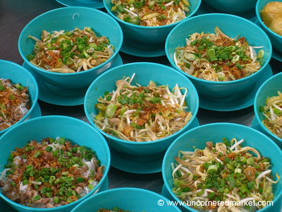Malaysian Food, Bowls of Noodles - Kuala Lumpur, Malaysia